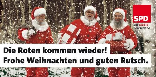 Die Roten kommen wieder! Frohe Weihnachten und guten Rutsch.